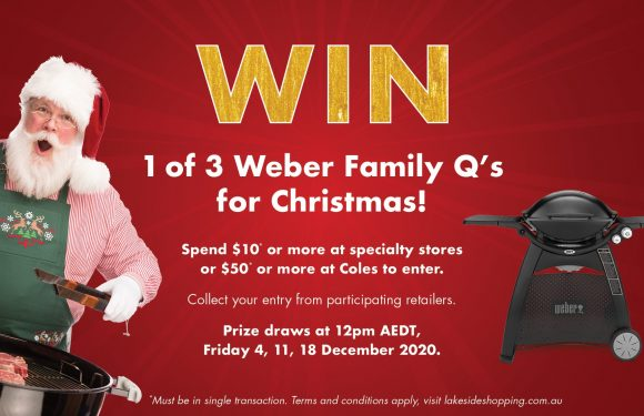 WIN 1 OF 3 weber Family Q's FOR CHRISTMAS!
